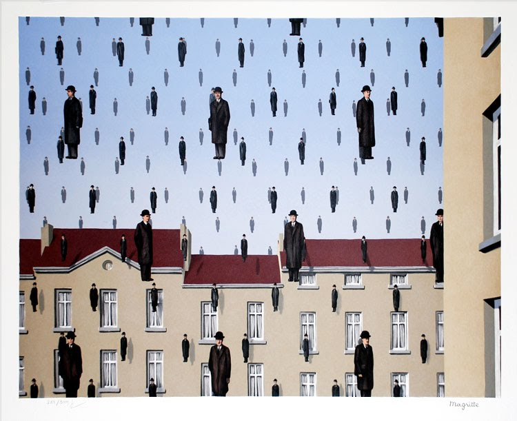 Golconda by Magritte